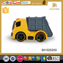 Friction construction toy mini truck with light and music