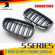 CAR PARTS ABS CARBON FIBER GLOSSY BLACK KIDNEY GRILL GRILLE FOR BMW F10 F18 M5 2012-2014
