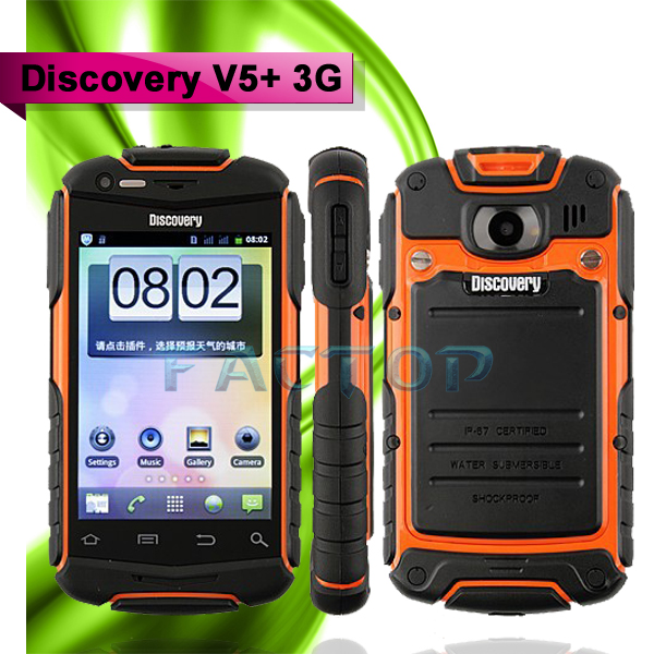 waterproof phone 3.5inch android dual core phone discovery v5