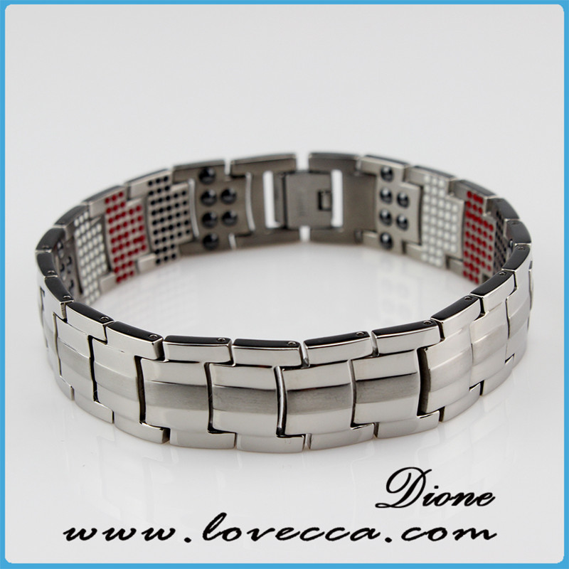 Best selling products bio health magnetic titanium bracelet for men