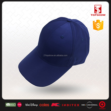 Topshow 6 panel pre-curved brim royal navy baseball caps