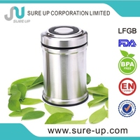 Different colour 300ml double wall stainless steel vacuum thermos food container (CSUE)
