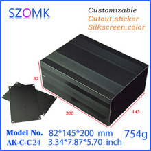 SZOMK Custom Electrical Metal Box Concluding Aluminum Control Case Device Enclosure