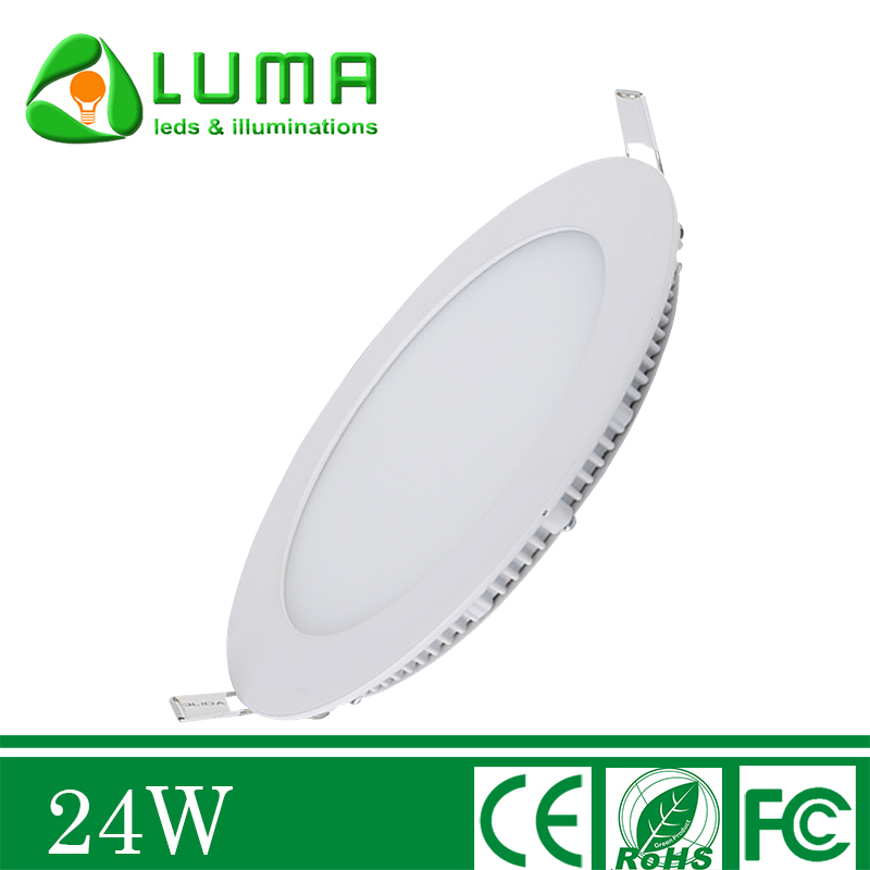 24W 9 Inch Round LED Panel Recessed Ceiling Light Cool White 6500K Ultrathin Lamp Fixture