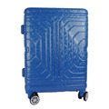 Blue New Style ABS PC foldable Trolley luggage For Travel 2017 Factory ODM