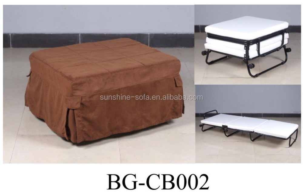 roll away metal single folding ottoman bed with color. Black Bedroom Furniture Sets. Home Design Ideas