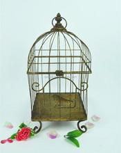 Shabby antique metal large bird cage