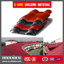 Competitive price 3 layer coffee brown interlocking synthetic resin roof tile