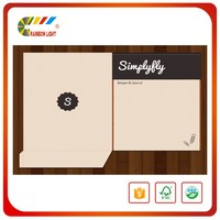 Custom design fashion handmade shape A4 paper folding cardboard file folder
