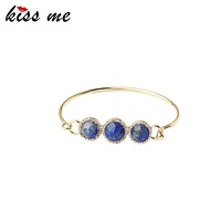 Latest Trends Copper New Design Brand Jewelry Charms Natural Stone Bangle