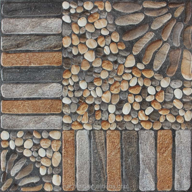 2015 New Design Non-slip 3D Inkjet Rustic Floor Tile 400x400mm For Garden Floor Tiles Decoration