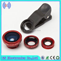 mini camera lens for samsung galaxy s4, Fish Eye, Wide Angle,Marco, 3 IN 1