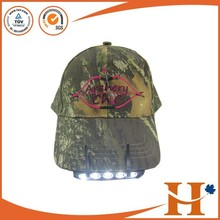 hot sale custom design hat 5 LED Light camo detachable camp hunting outdoor sports baseball Cap