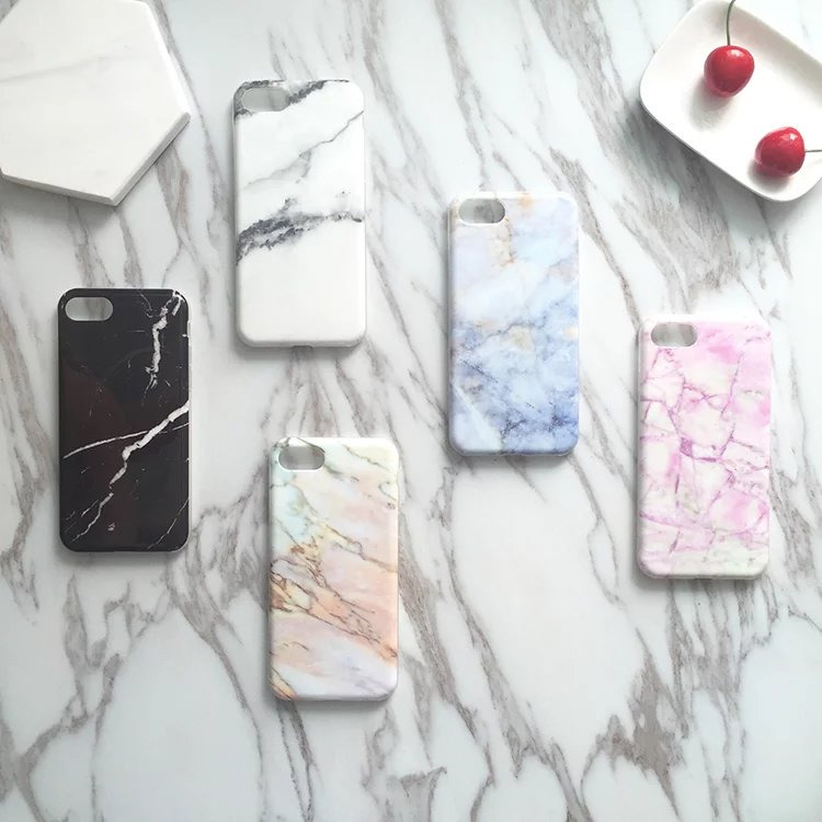 Rubber Silicone Skin Cover for Apple iPhone 7, for iPhone 7 Marble Design Flexible TPU Case