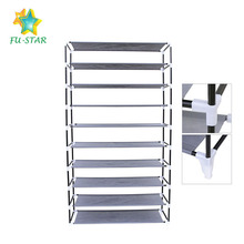 Best selling non-woven fabric folding 10 tier shoe storage high quality waterproof 50 pairs shoe rack cabinet