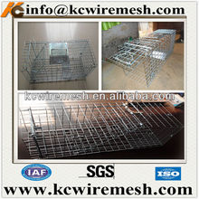Small animal metal wire trap cage made in China.
