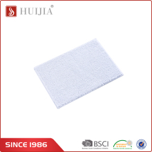 HUIJIA Latest Products Bathroom White Square Water Absorbent Mat Carpets And Rugs