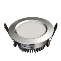 Cold white silver lamp color 2.5 inch lamp HTD685 3W led down light living room bedroom kitchen recessed LED downlight