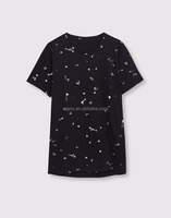 Allover Print Speckled Design T-Shirt Custom American Style men's Casual Tee Urban Style Gentleman Short T-shirt
