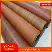 lamination pvc wood grain film wall covering