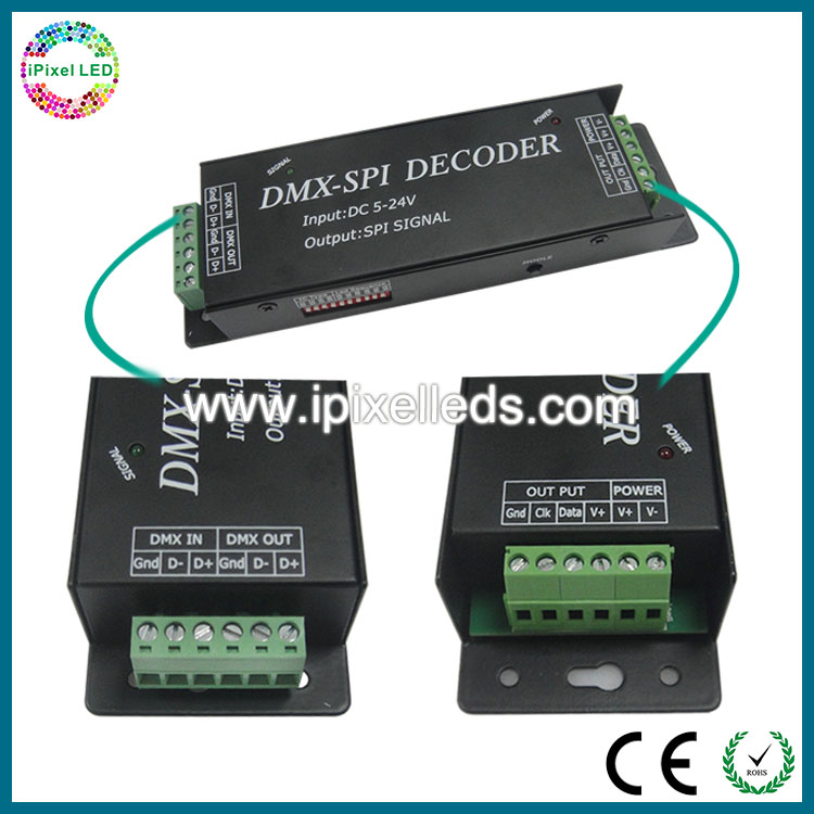 DC5V-24V DMX512 LED decoder,micro control unit led dimmer,professional dmx led controller