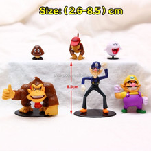 Anime Action Figure Super Mario figure 6 pcs for 1 set Wholesale New Style Super Mario figure