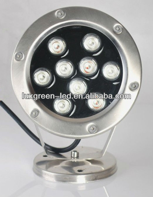 IP68 waterproof, 9x3w RGB led underwater light with 3 Years Warranty
