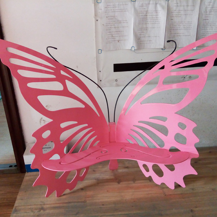 Modern unique metal butterfly art chair