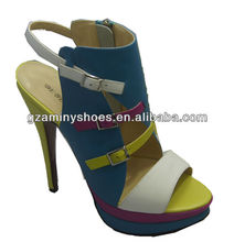 Fashion women leather sandals 2013
