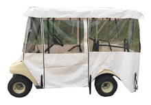 White Color Golf Cart Rain Cover For Club Car Precedent 4 Seat Car