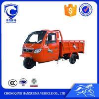 China gasoline enclosed motor cargo tricycle