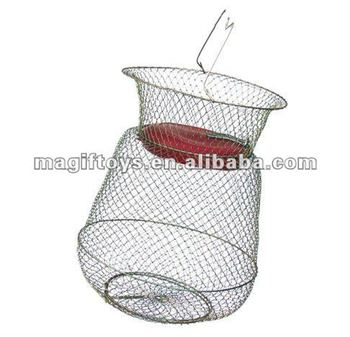 Economic Wire Collapsible Fishing Net Fish Keep Basket