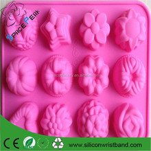 100% food grade Flower Fondant Cake pan Candy Soap Silicone Mold Baking Pan Cake Decoration