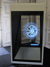 3D hologram glass display showcase,holocube with led light