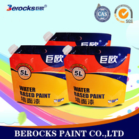 Water-based waterproof interior wall paint/powder coating materials