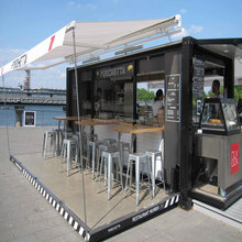 China suppliers modern glass modular coffee movable houses