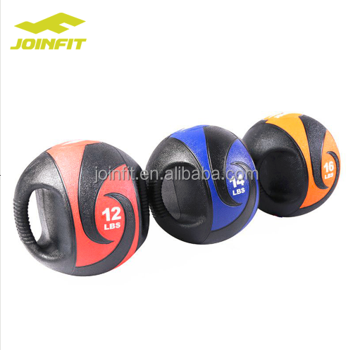 JOINFIT Double Handle Medicine Ball,Dual Grip Rubber Medicine Ball