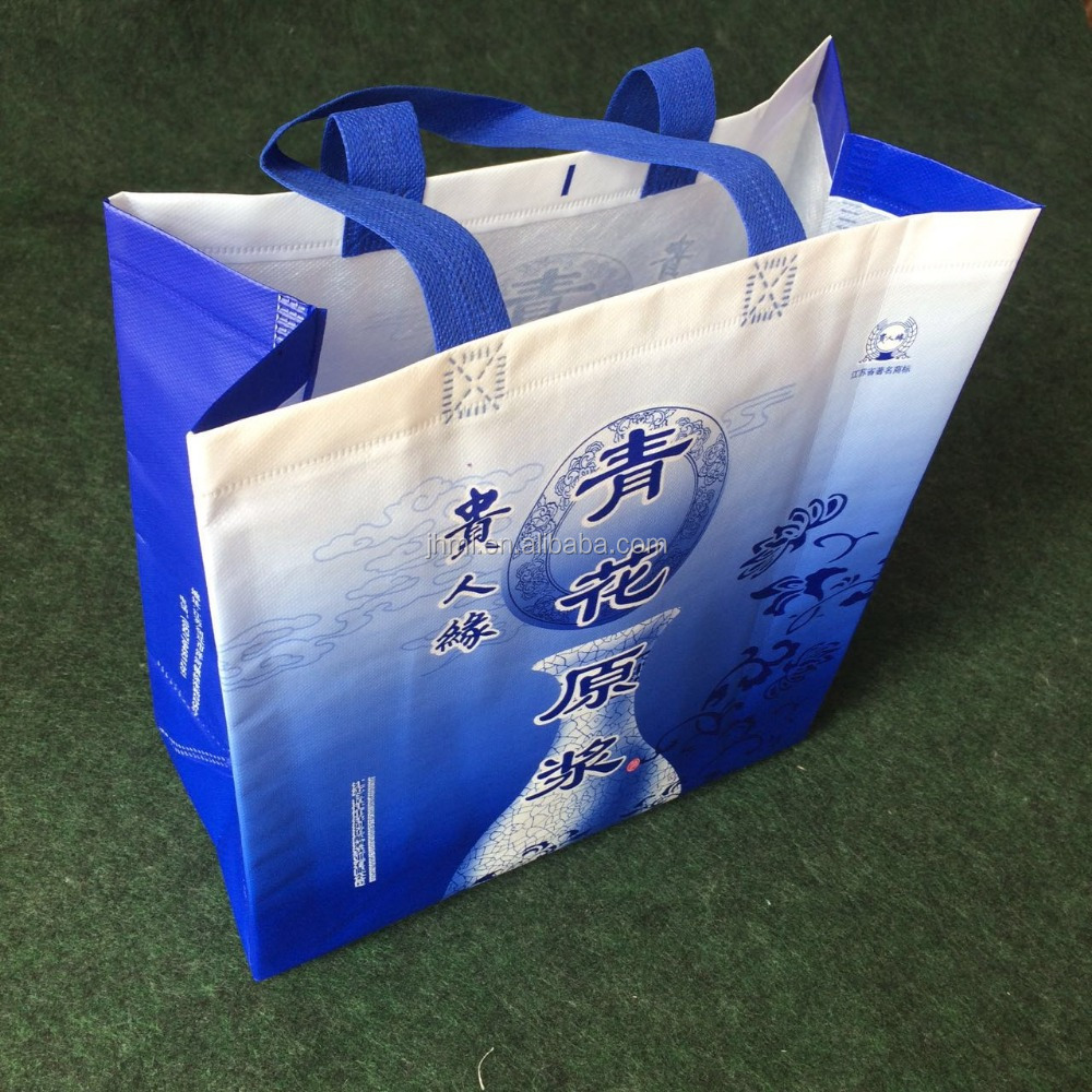 High quality eco Ultrasonic wave non woven shopping bag by machine