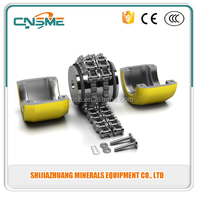 Double Roller Chain Flexible Shaft Coupling Sprockets in Hardened Steel with Stock Bore for re-boring