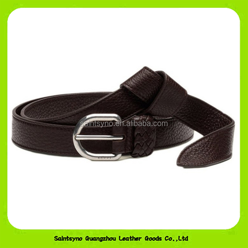 16231 Hot selling new fashion high end lichee pattern real strong leather belt made in china