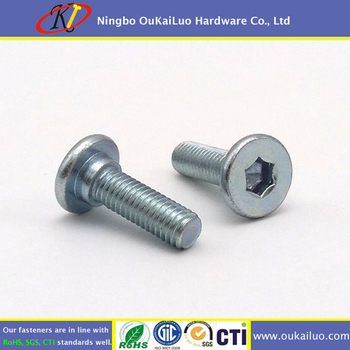 Galvanized Flat Head Socket Shoulder Screw