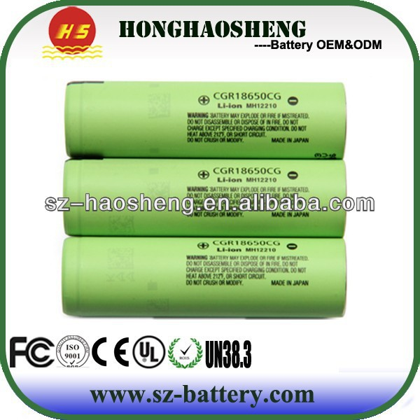 Highest capacity rechargeable lithium ion 18650 battery for Panasonic 18650 2250mah