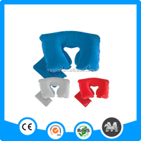 Hot selling travel set custom inflatable neck pillow, inflatable neck pillow with bag