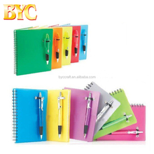 Promotional School Spiral Notebook a5,Office Stationery Diary Book With Pen