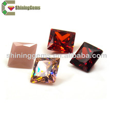Factory direct sale square cut cubic zirconia price wholesale sterling earrings