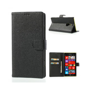 Wallet Style Leather Case for Nokia Lumia 1520, Lichee Pattern Stand Case, Flip Magnetic Leather Case for Nokia Lumia 1520