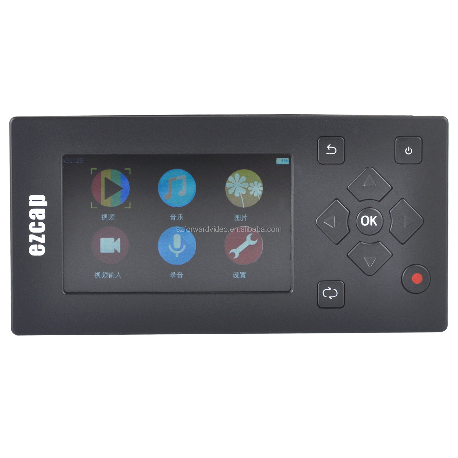 Video to Digital Converter Standalone Media AV Recorder and Player with Mic portable video player ezcap271