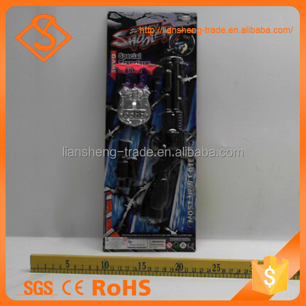 Popular Design Black Color Shooter Play Gun Toy Cheap Plastic Toys