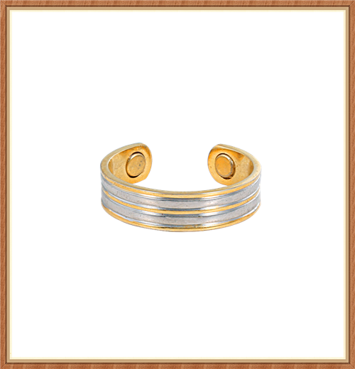 High quality two tone magnetic pure copper ring