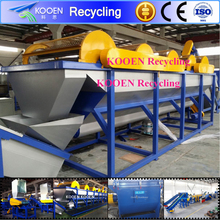 High efficiency waste plastic pe/pp film recycling line